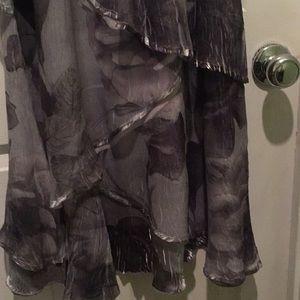 Komarov Dresses - Komarov Pleated Tiered Long Dress M